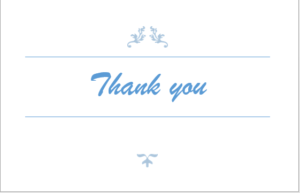 Creating a Thank You card in MS_Word